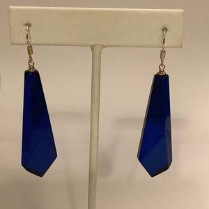 Caribbean Amber earrings in blue color.